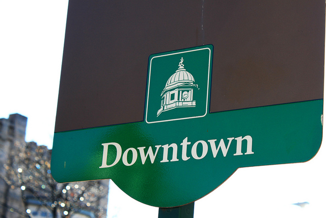 Downtown bloomington sign