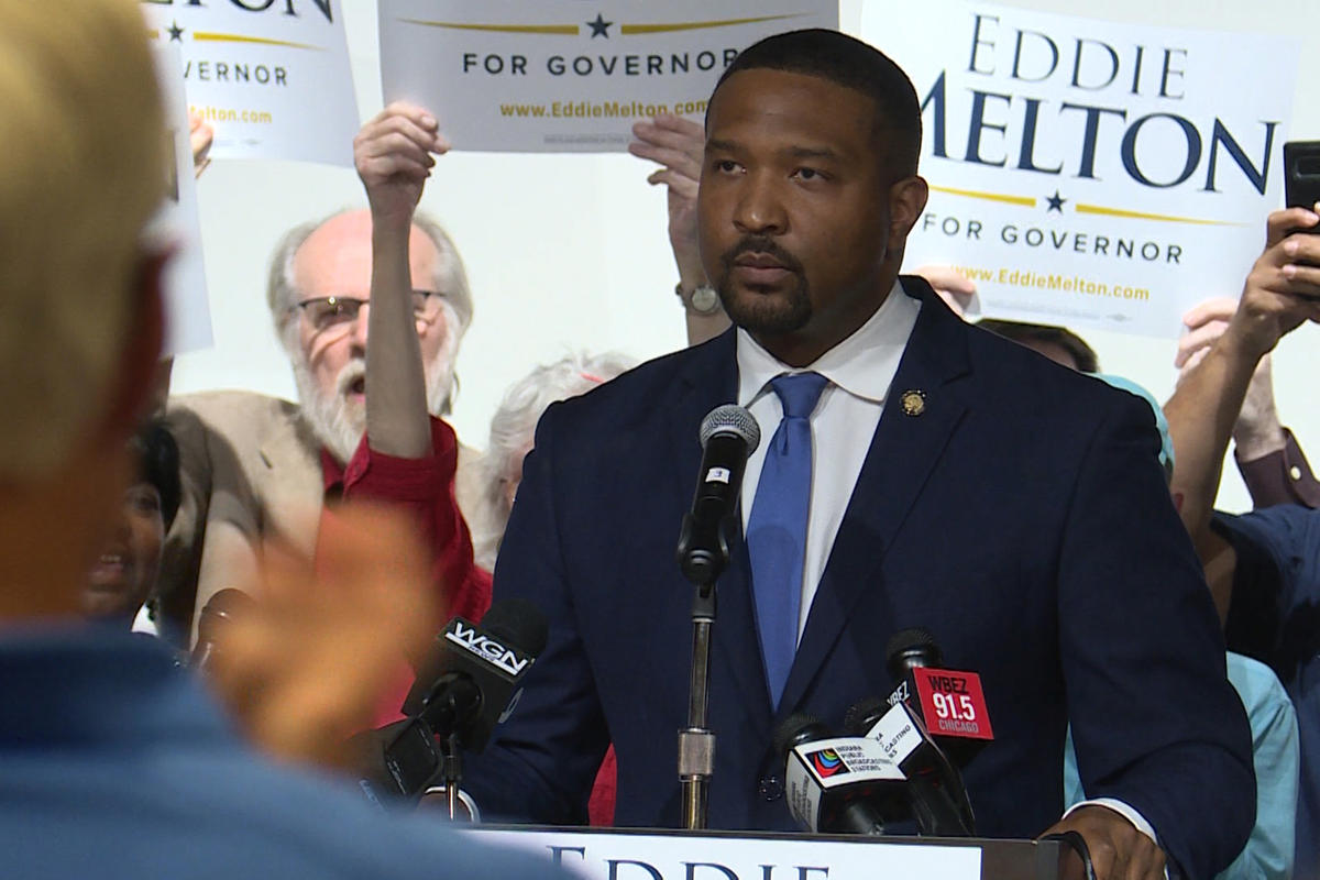 Sen. Eddie Melton (D-Gary) launched his gubernatorial bid in Gary, with about 200 supporters cheering him on, Oct. 8, 2019.