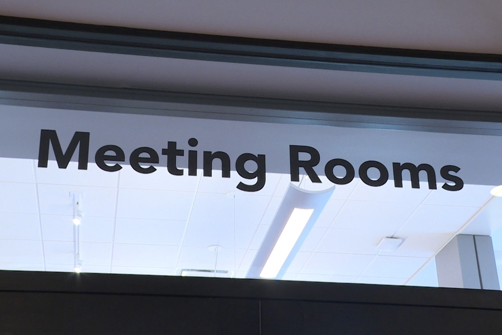 A meeting room sign in the Ellettsville library.