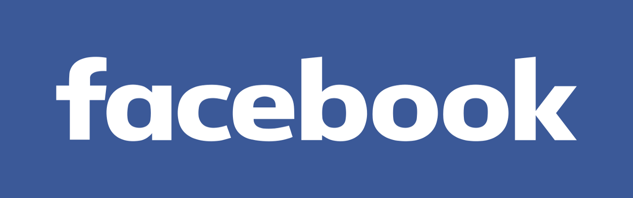 A Facebook logo for web posts.