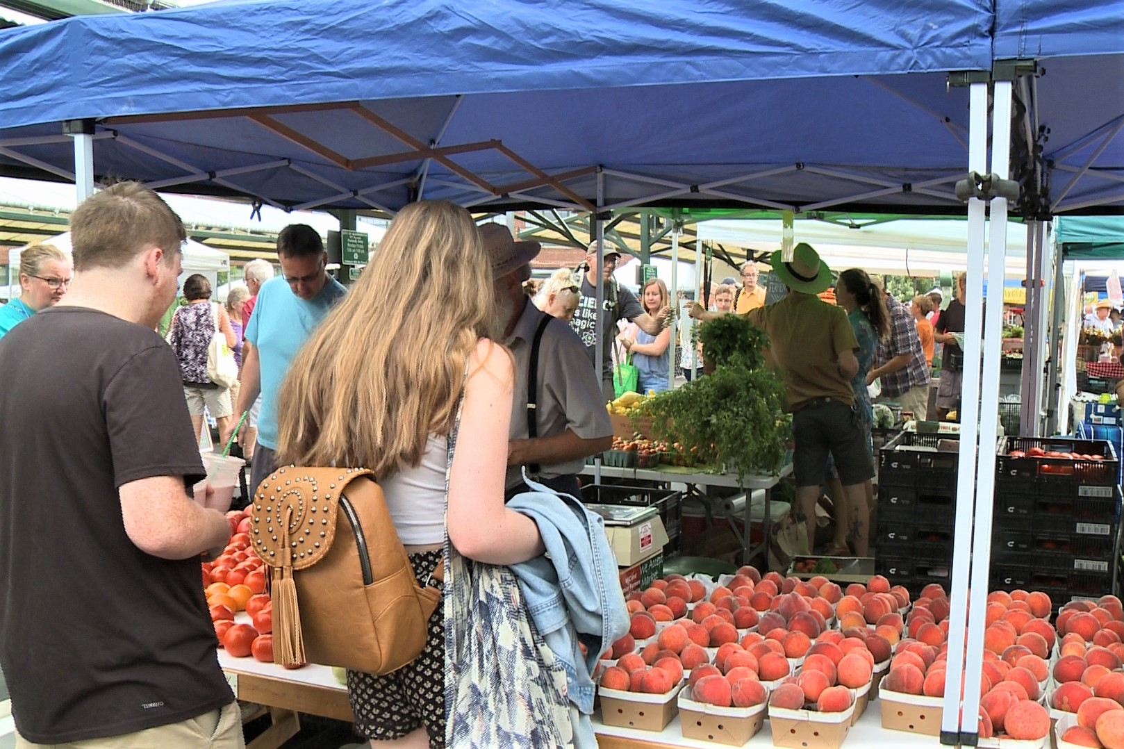 A still from the Bloomington Community Farmers' Market.