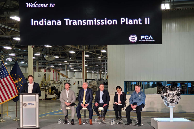 Officials at the Fiat Chrysler Automotive plant in Kokomo.