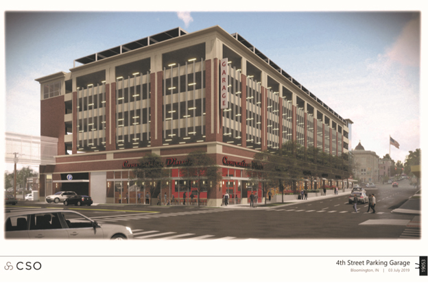 Fourth Street parking garage render