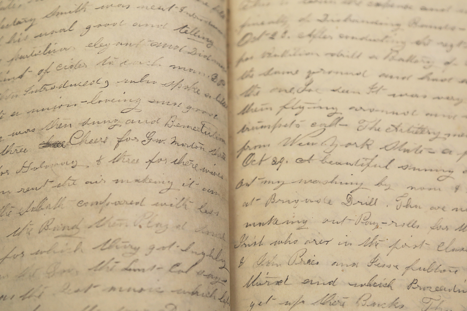 Civil war diary two pages of diary with no text