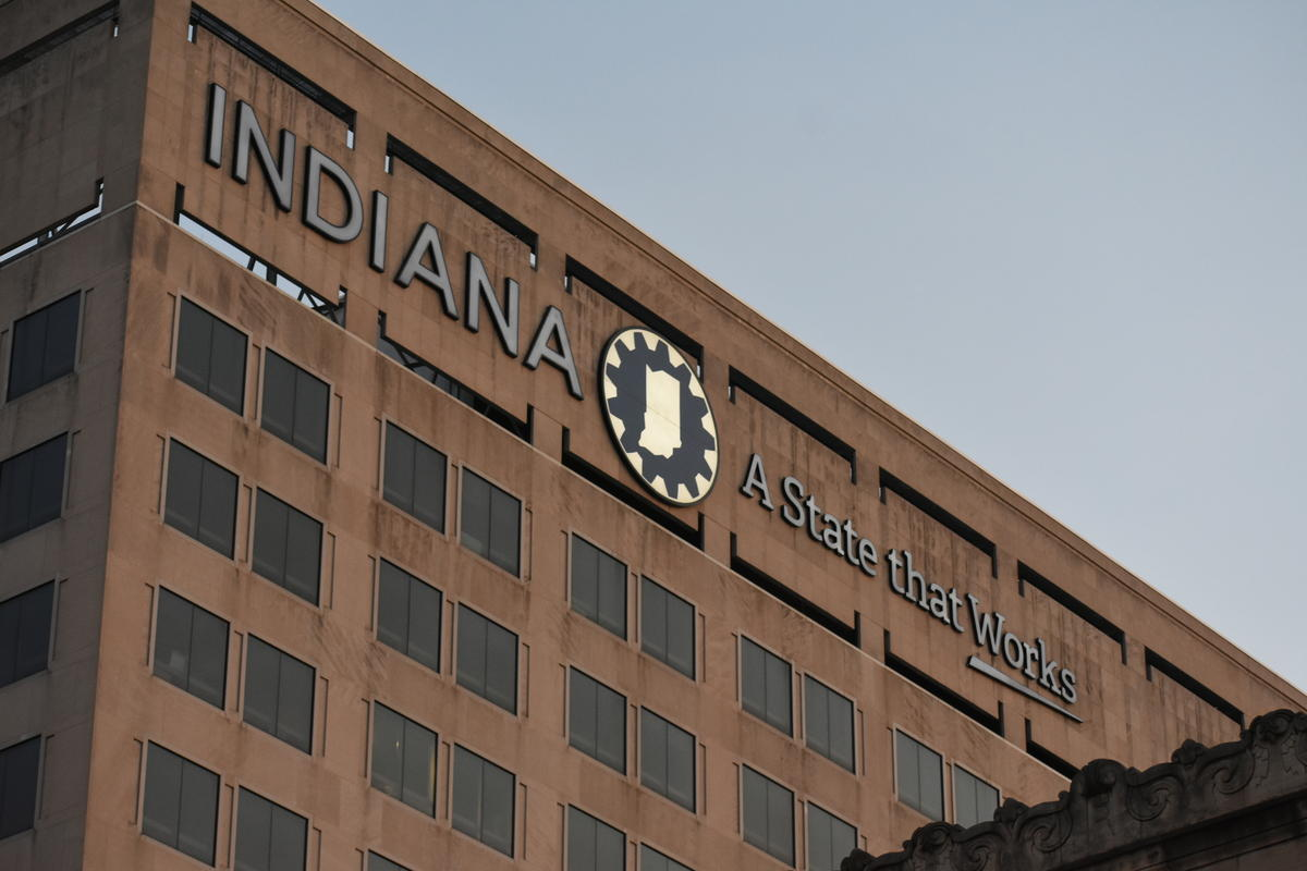 The Indiana Government Center building