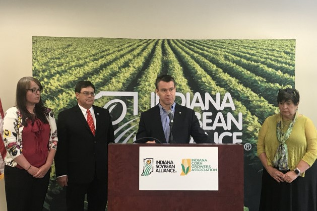 Todd Young at soybean alliance