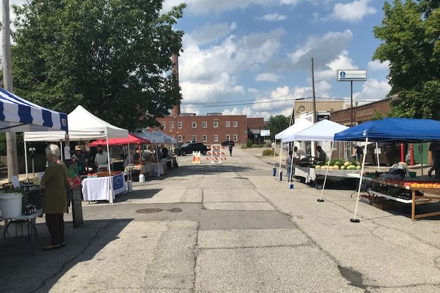The Bloomington Tuesday Farmers' Market.