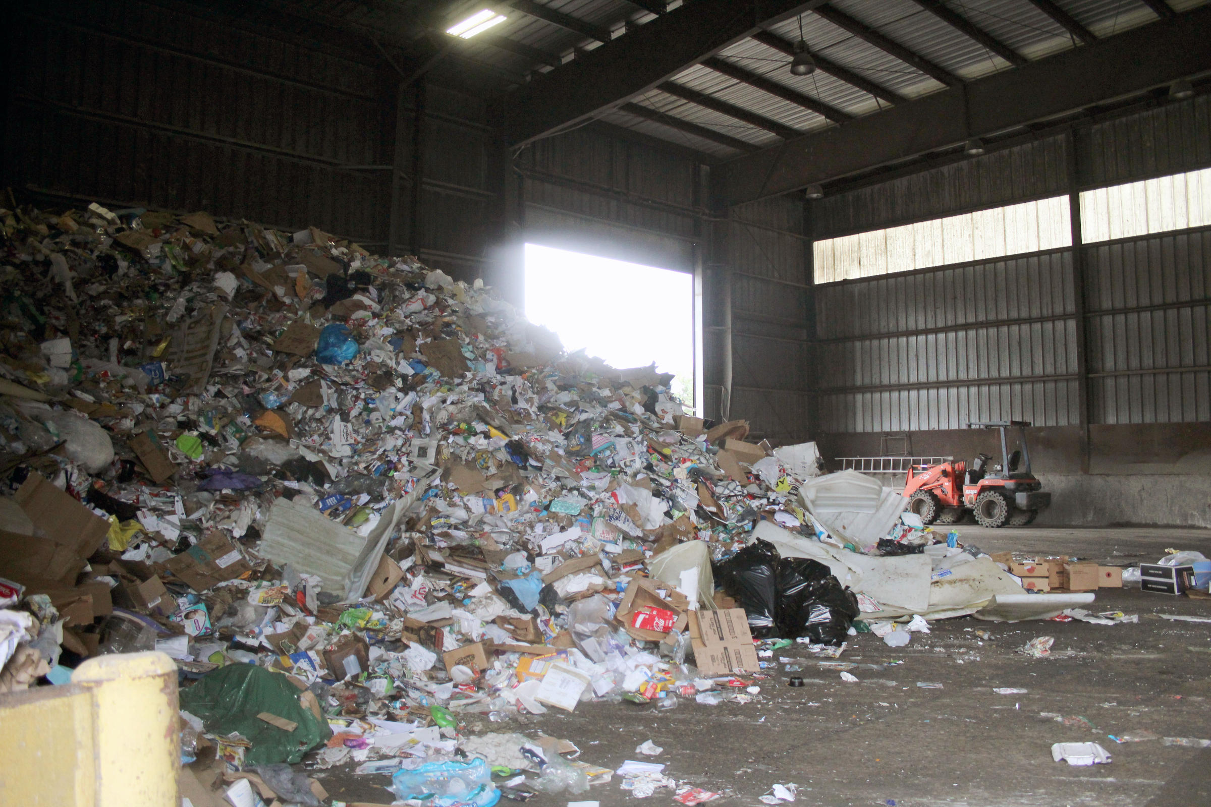 In Tippecanoe County, curbside recycling is taken to a transfer station on the north side of Lafayette.