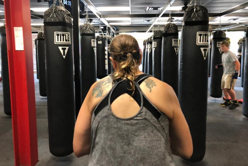 An Indianapolis boxing class helps people get through their grief.