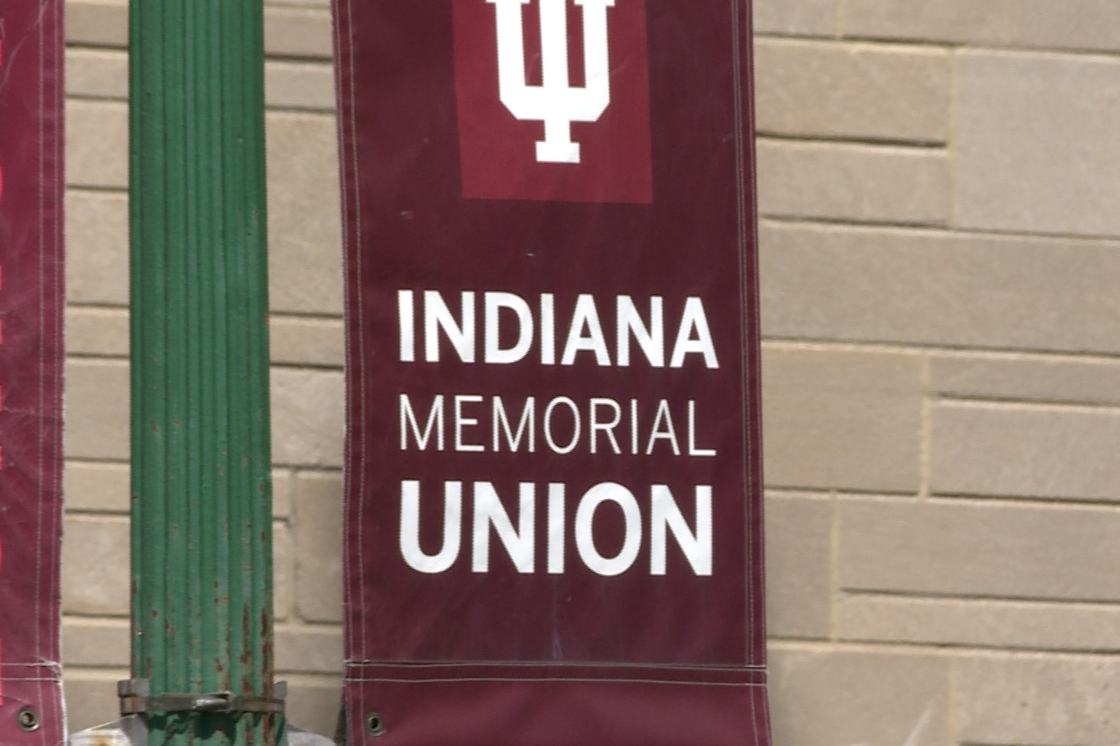 A sign on IU's Memorial Union.