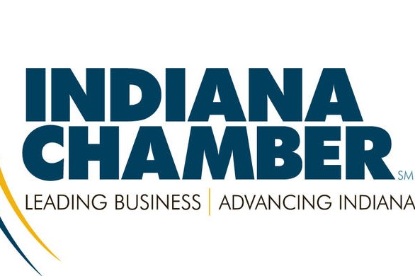 A logo for the Indiana Chamber of Commerce.
