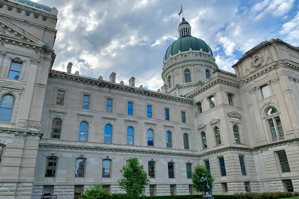 The Indiana Statehouse in the summer. (August 2019)