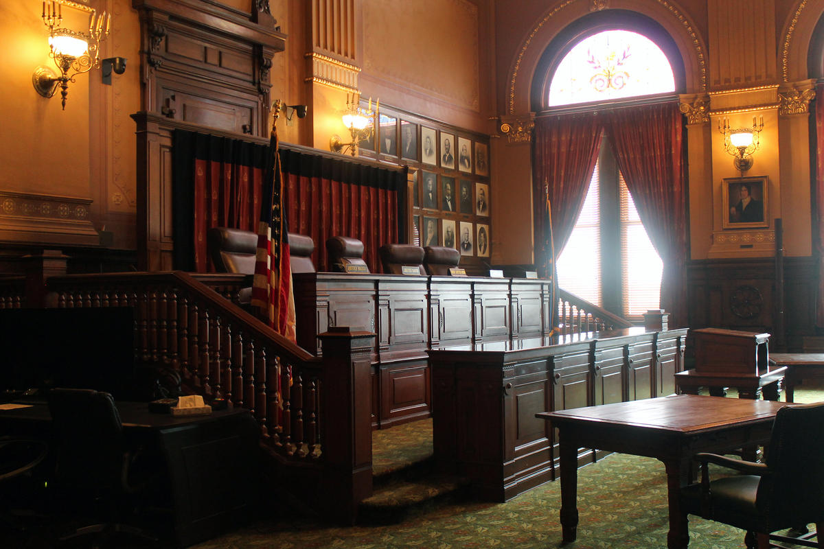 The Indiana Supreme Court chamber