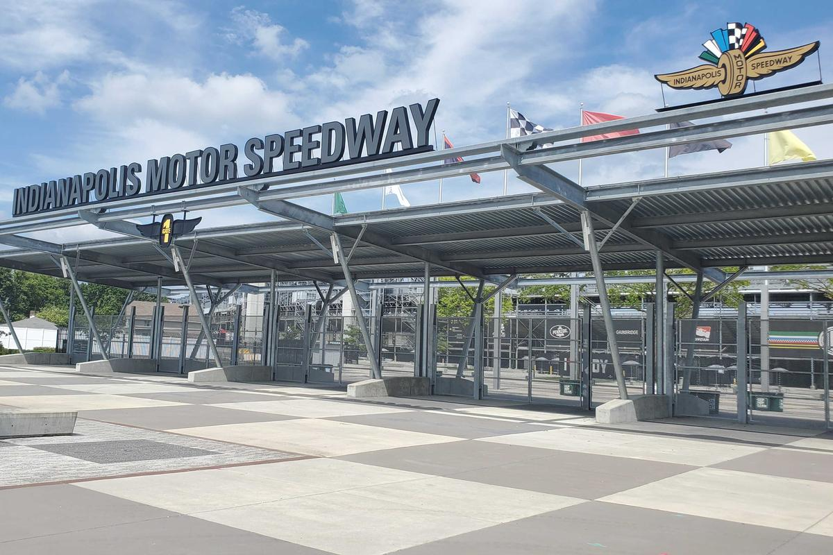 The entrance to the Indianapolis Motor Speedway (IMS).