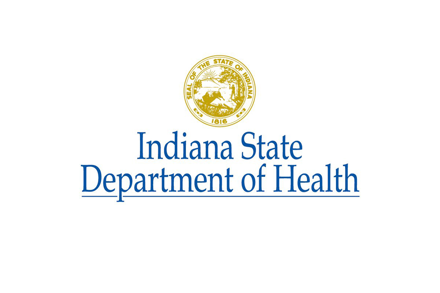 The logo of the Indiana State Department of Health.