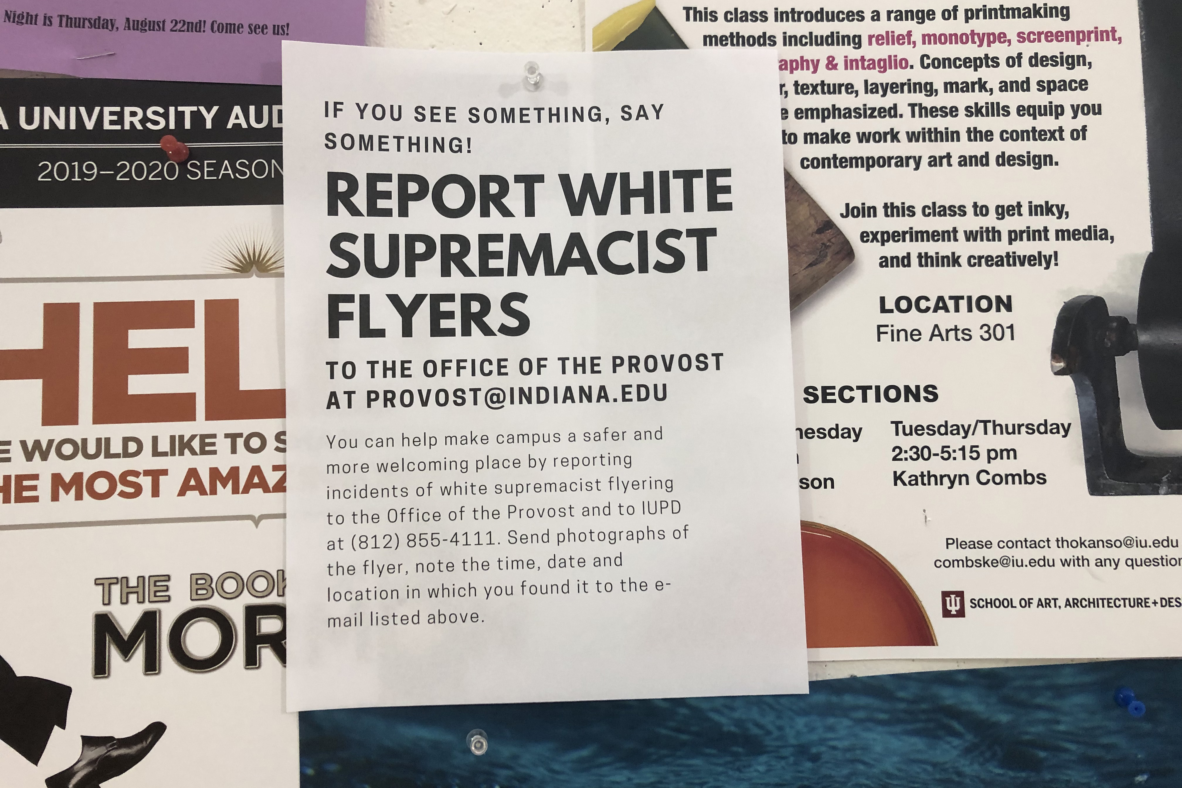 White supremacist flyers
