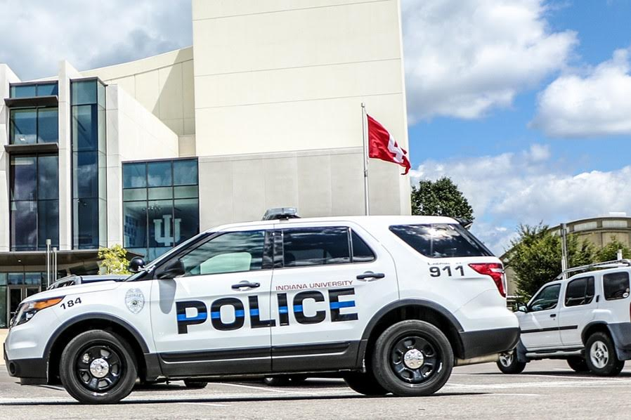 Indiana university police department car