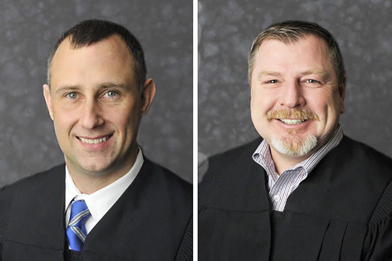 Judge Bradley Jacobs and Judge Andrew Adams.