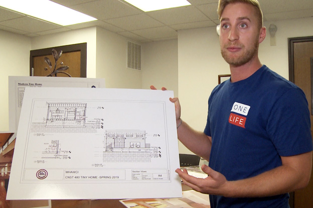 Jase Allsup shows renders of Terre Haute's Tiny Homes