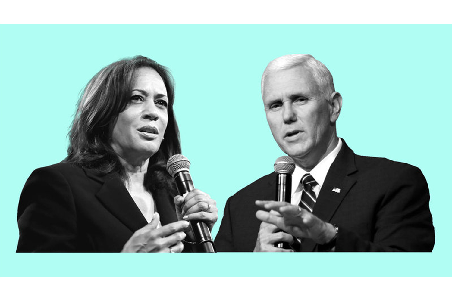 Democratic vice presidential nominee Kamala Harris and Vice President Pence.