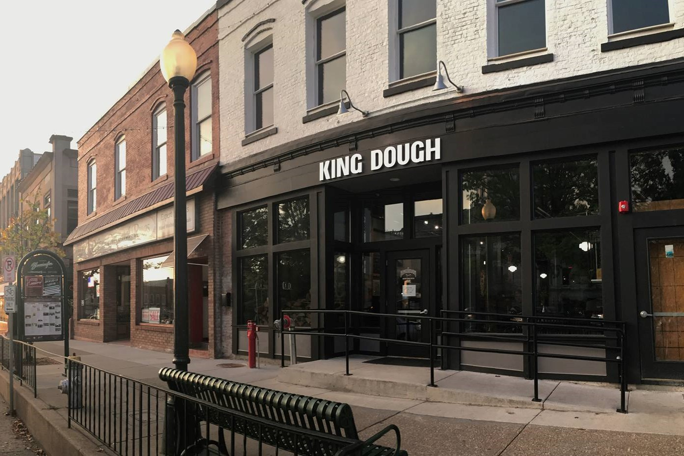 A shot of King Dough in Bloomington.