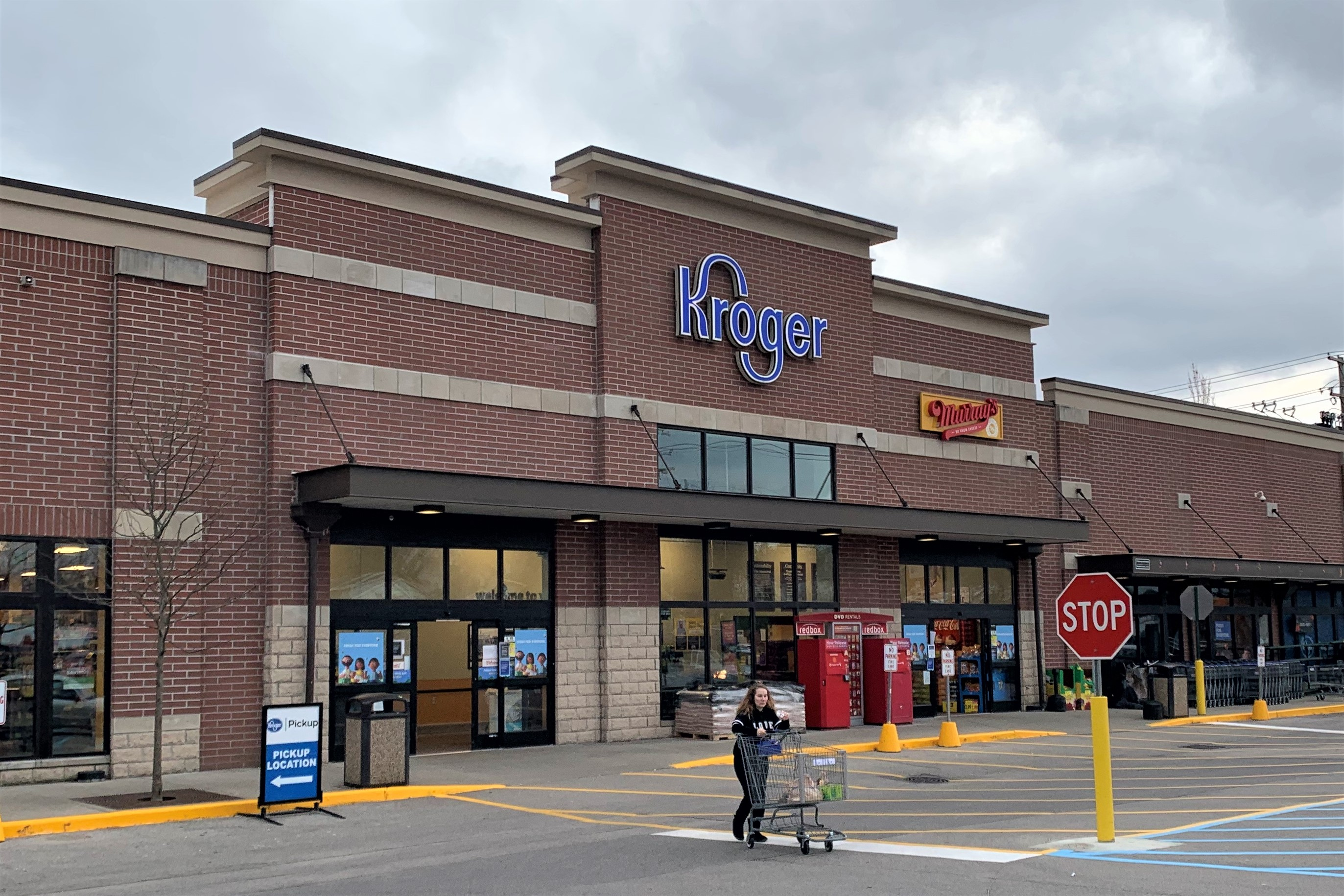 The exterior of the Seminary Square Kroger in Bloomington.