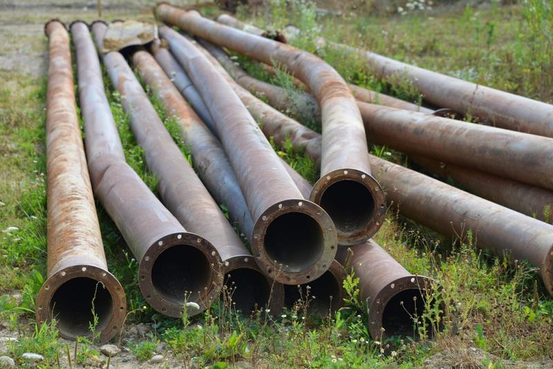 A stock image of lead pipes.