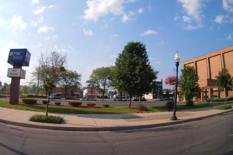 A panoramic street view of Logansport, 2013.