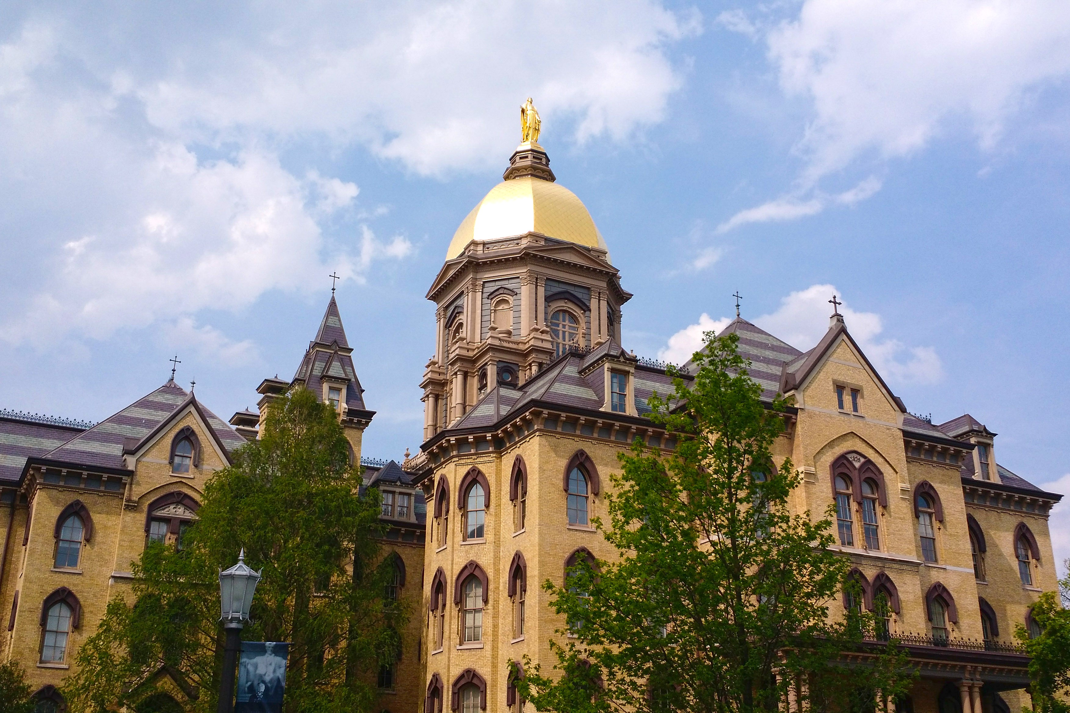 The main building at the University of Notre Dame.