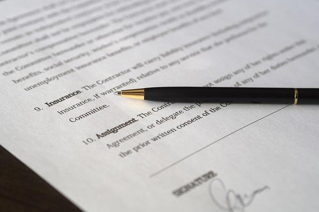 An insurance contract.