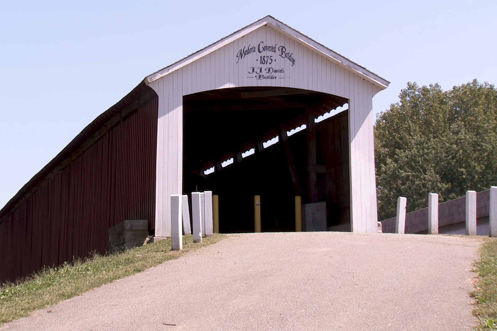 Medora Bridge, the longest covered bridge in the county to receive a security system