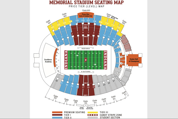 Memorial Stadium seating chart