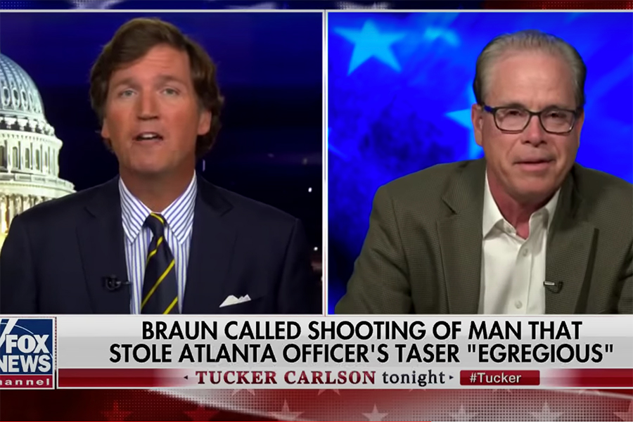 "Sen. Mike Braun (R-Ind) appears on Fox News for ""Tucker Carlson Tonight"""