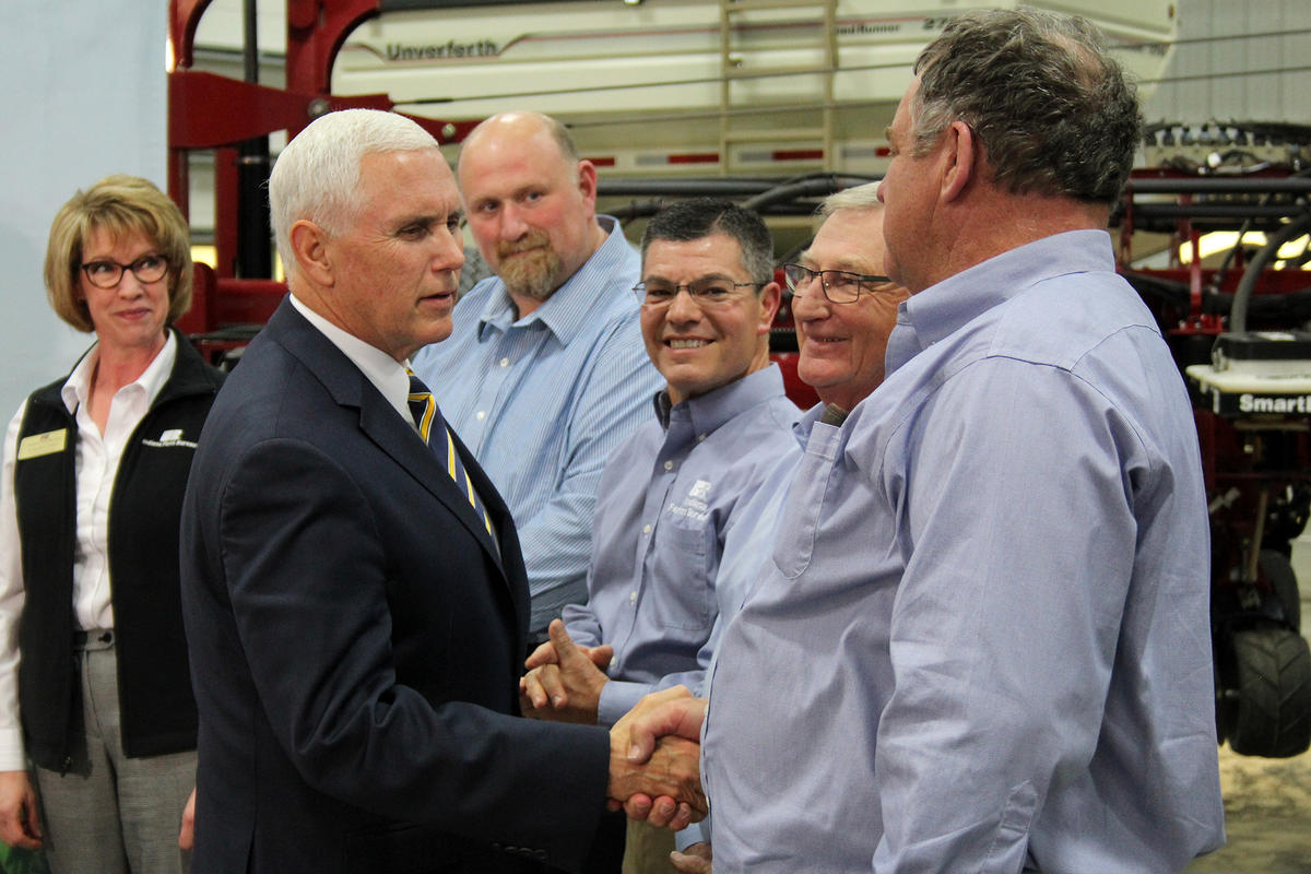 Mike Pence farm visit