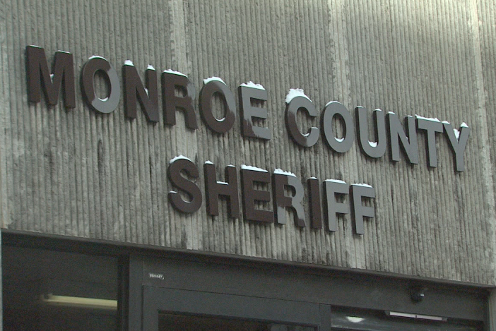 A sign for the Monroe County Sheriff's Office.