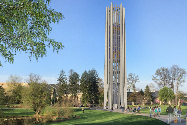 A rendering of the new Metz Carillon Bell Tower on IU's Bloomington campus.