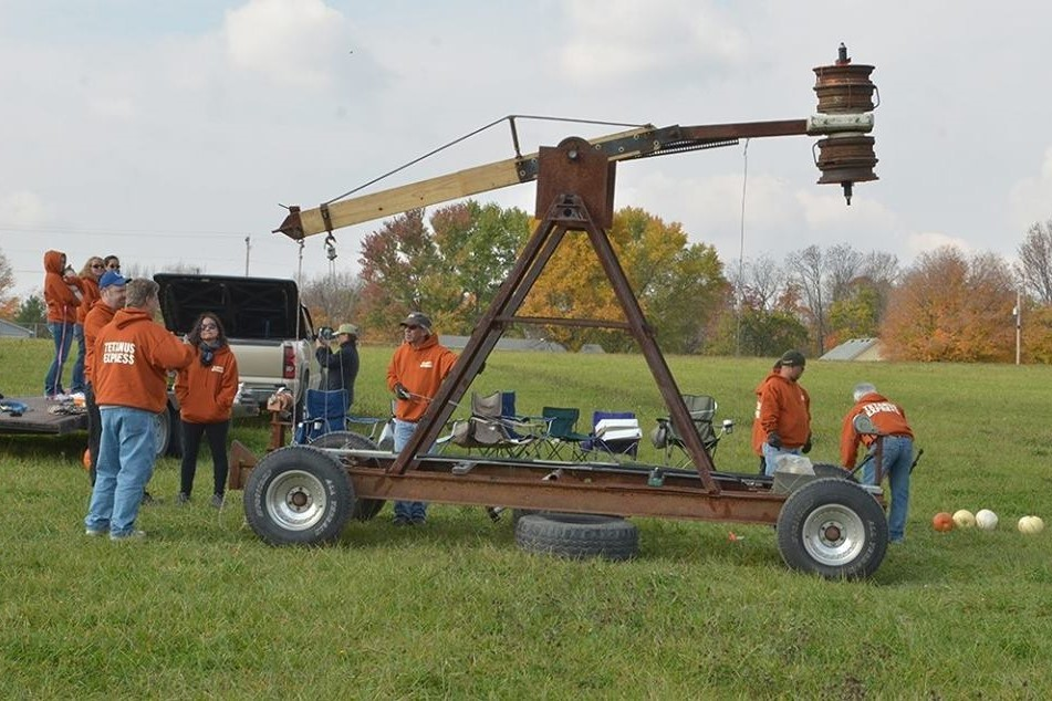 Teams compete in the annual Pumpkin Launch