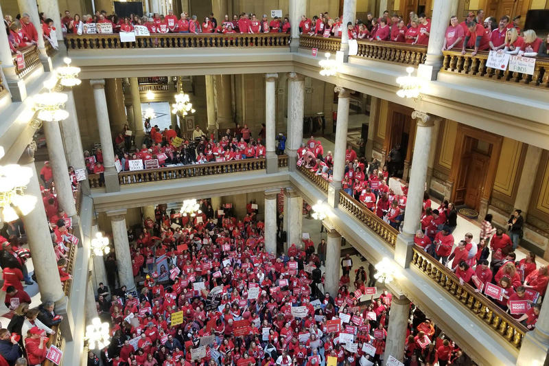 A Red for Ed rally at the Statehouse in 2019.