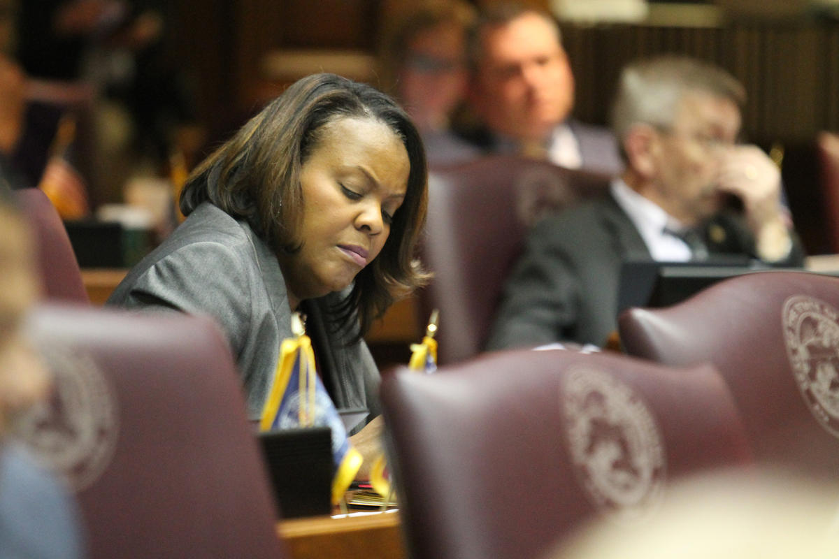Indiana Black Legislative Caucus Chair Rep. Robin Shackleford (D-Indianapolis).