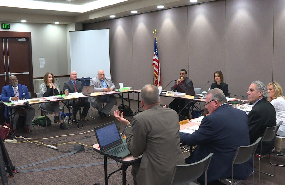 The Indiana Board of Education meeting