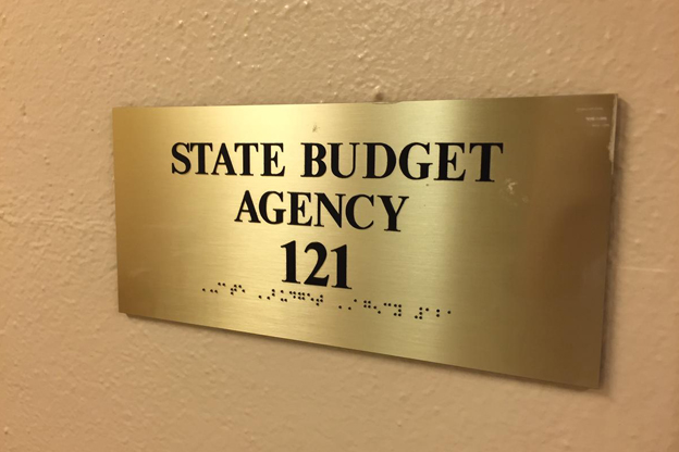 State Budget Agency sign