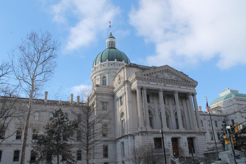 The Indiana Statehouse.