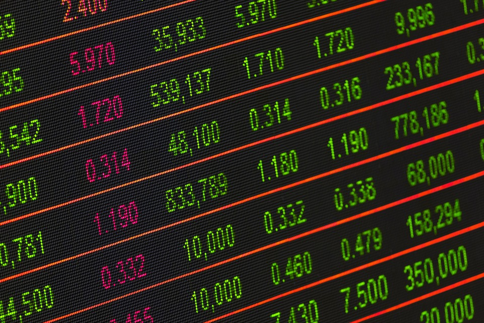 Numbers on a stock exchange trading screen. (Stock image)