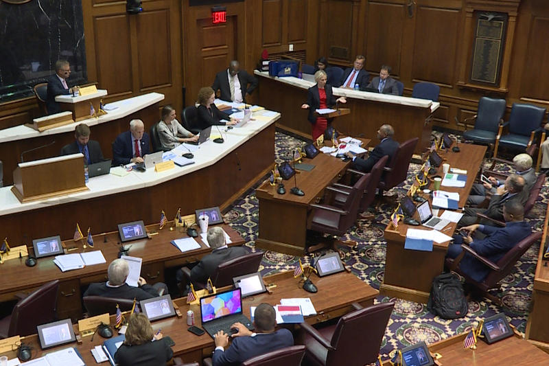 Lawmakers meet for an education-focused summer study committee meeting in the House chamber.