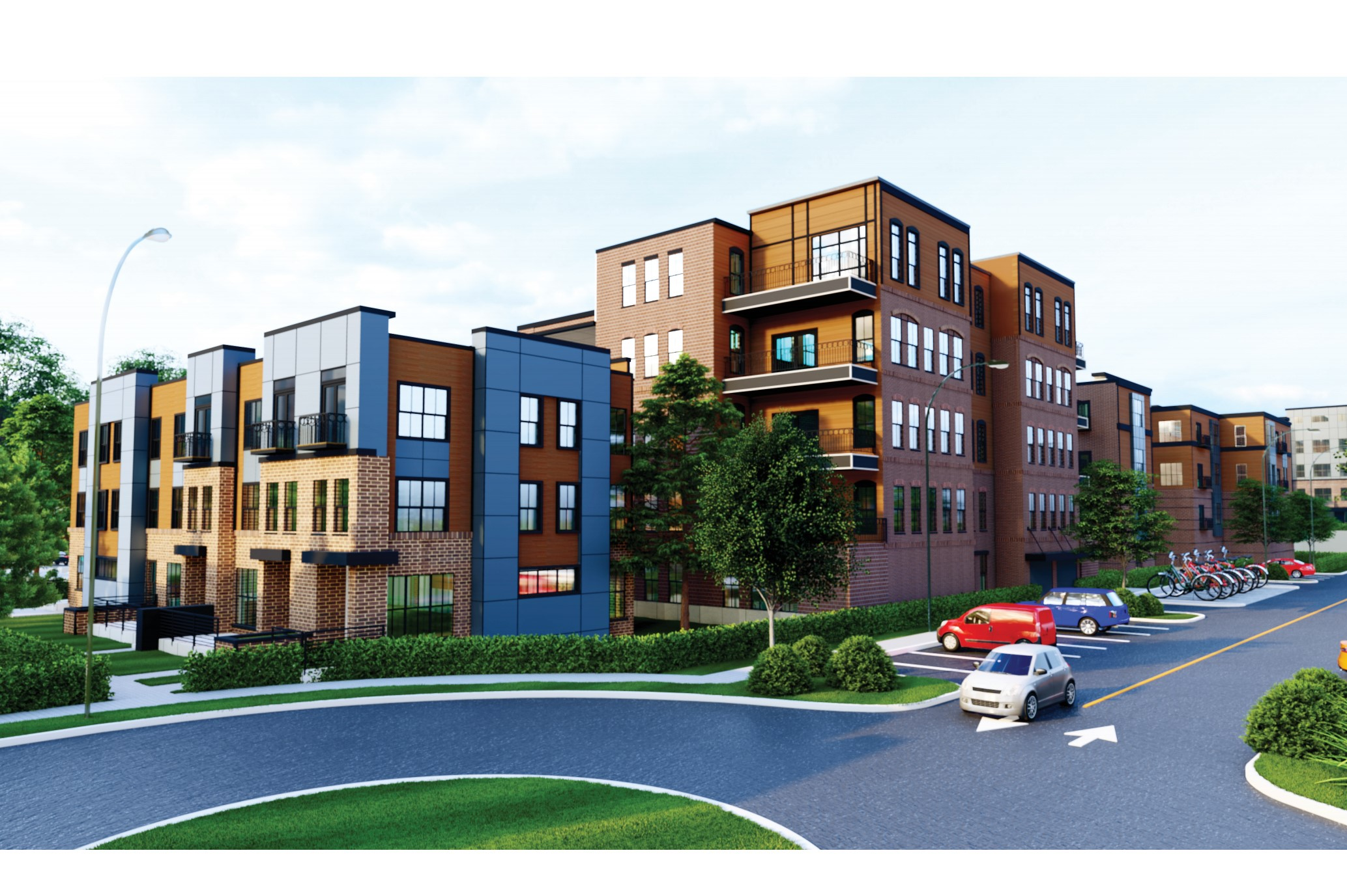 A drawing of what the proposed housing development on West Hillside could look like.