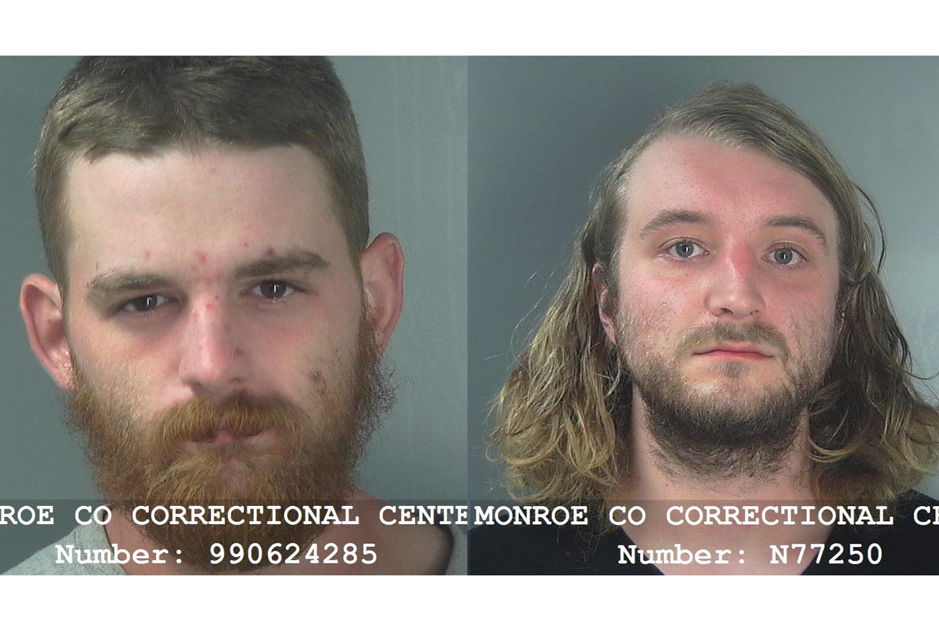 Mugshots of Tyler Price and Gregory Silvey of Bloomington.