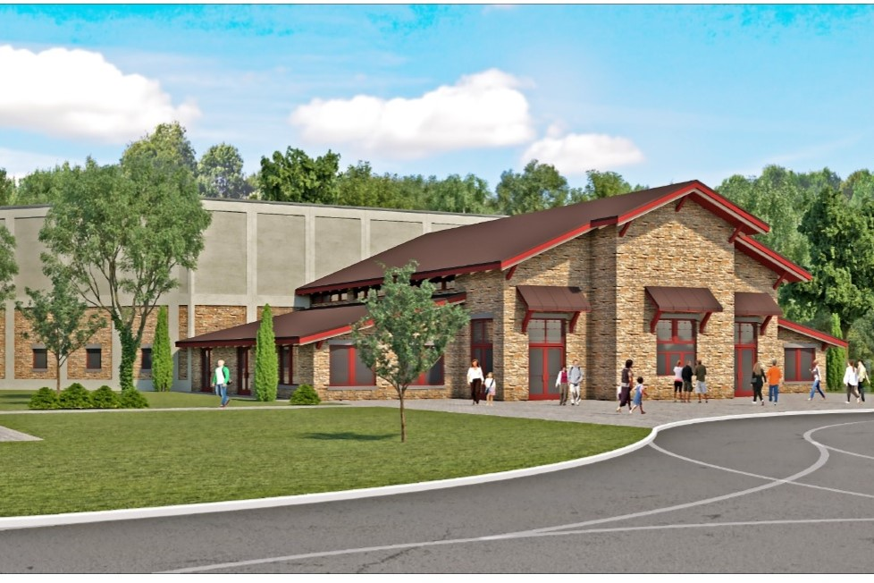 An artist's rendering of the future Brown County Music Center.