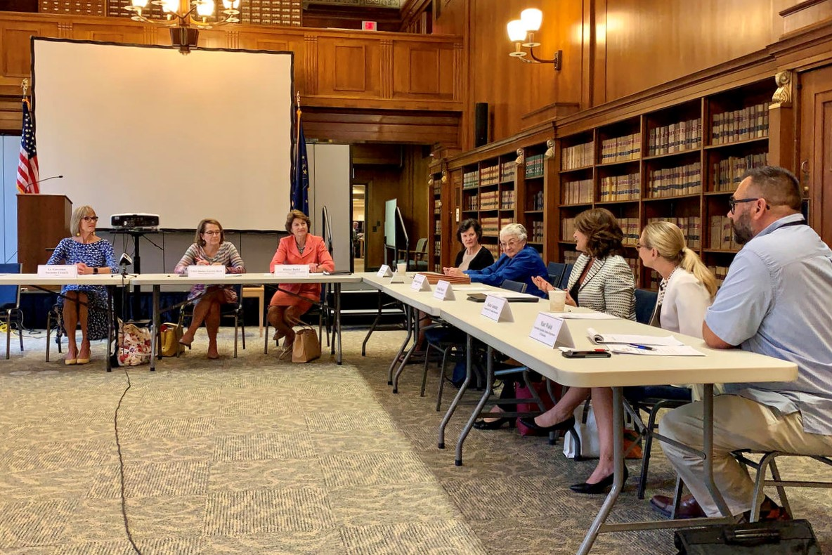 The first meeting of the Indiana Women's Suffrage Centennial Commission, Aug. 14, 2019.
