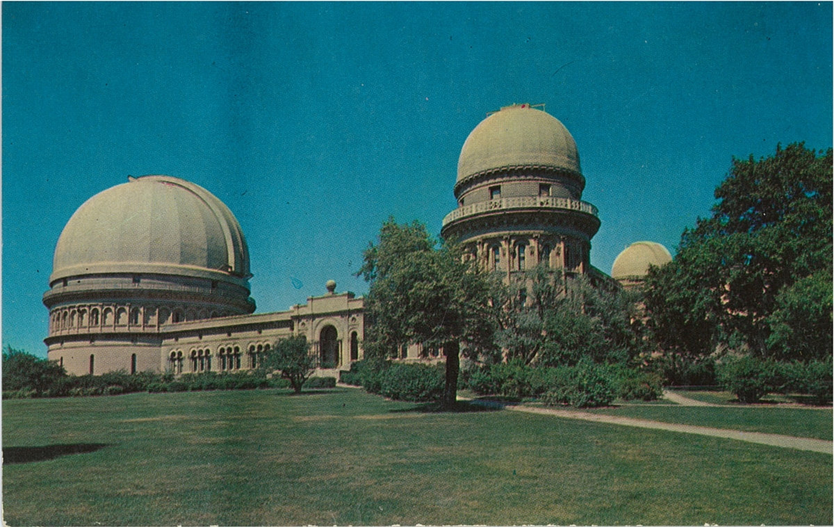 postcard of planetarium
