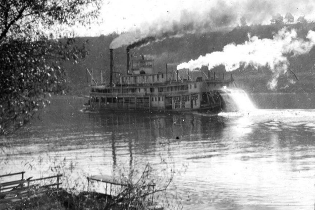 steamboat on Ohio River